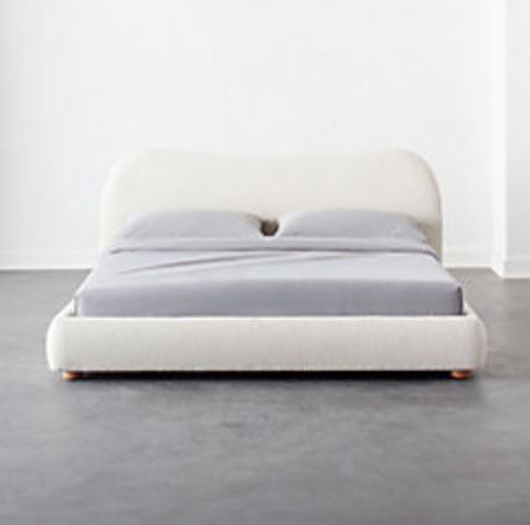Diana White Bed by CB2